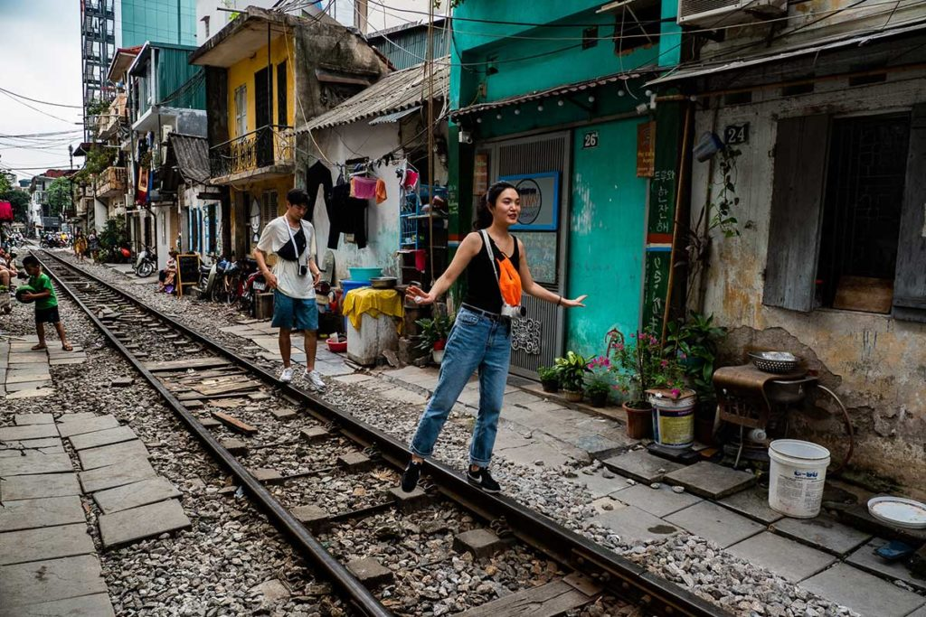 Hanoi's inner-city railway