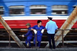 Hanoi's famous train street tour
