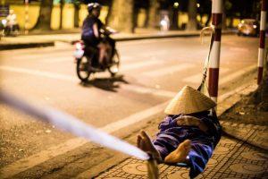 Hanoi by Night Street Scene