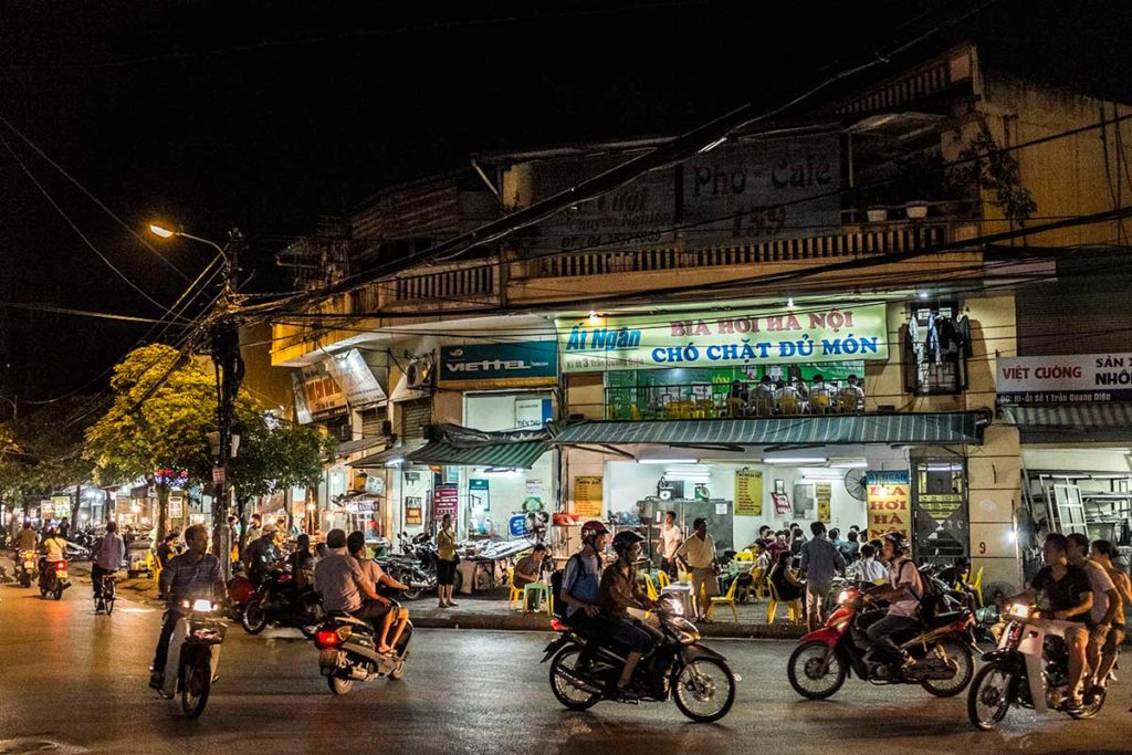 Hanoi by Night Street Scene